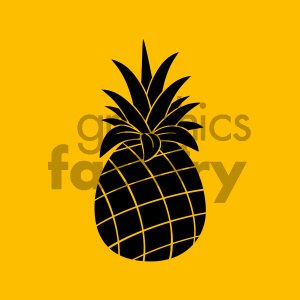 cartoon food mascot character vector happy fruit pinapple