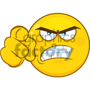 smilie cartoon funny smilies vector yellow you angry