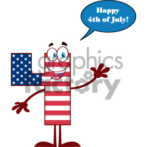 cartoon character mascot USA America fourth+of+july 4th happy+birthday