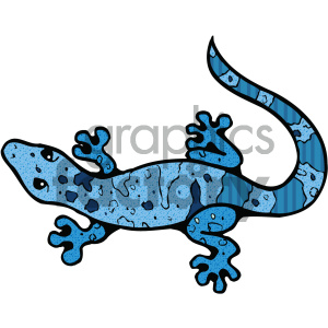 cartoon clipart gecko 005 c clipart. Royalty-free image # 404806