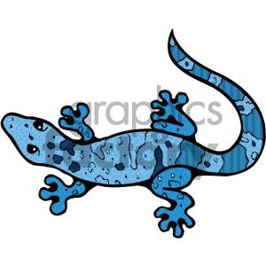 cartoon animals vector PR gecko lizard