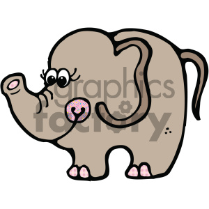 cartoon clipart Noahs animals elephant 002 c clipart. Royalty-free image # 404886