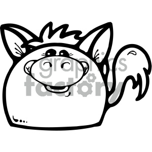 cartoon clipart gumdrop animals 008 bw