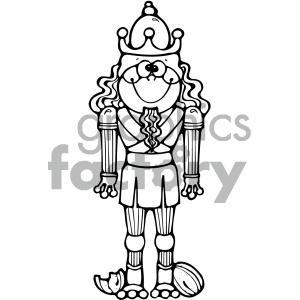 cartoon clipart frog 019 bw clipart. Royalty-free image # 404946