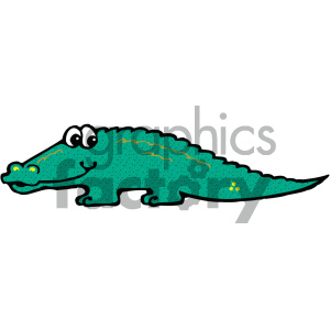 cartoon clipart Noahs animals alligator 011 c clipart. Royalty-free image # 404950