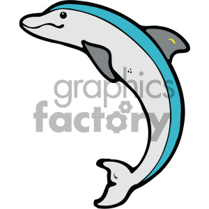 cartoon animals vector PR dolphin