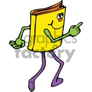 reading book character 004 c clipart. Royalty-free icon # 405018