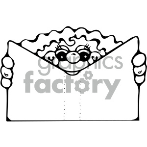 kid reading book 001 bw clipart. Royalty-free image # 405028