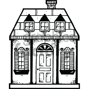 house 004 bw clipart. Commercial use image # 405042