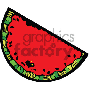 watermelon cartoon with a face clipart. Commercial use image # 405083