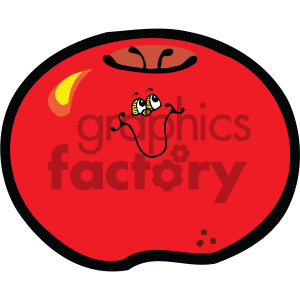cartoon food tomato character