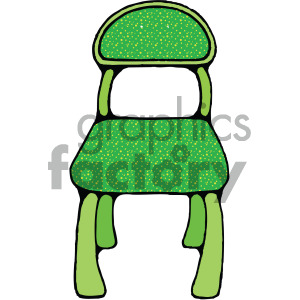 green cartoon school desk chair clipart. Royalty-free image # 405151