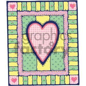 heart quilt design clipart. Royalty-free image # 405174