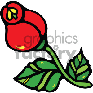 red rose vector clipart clipart. Commercial use image # 405197