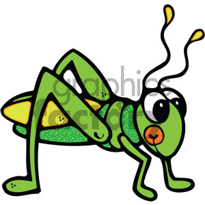 cute grasshopper image clipart. Commercial use image # 405247