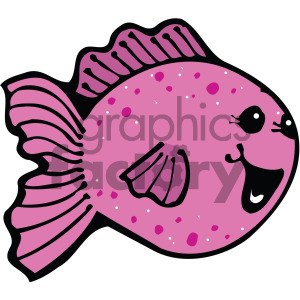cartoon fish pink