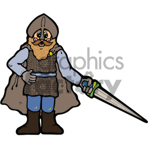 knight vector art clipart. Commercial use image # 405294