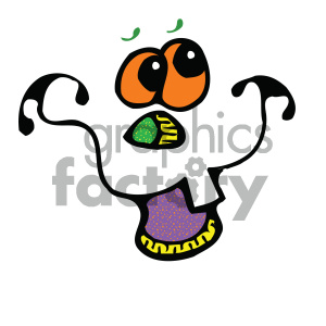 funny pumpkin face vector art clipart. Royalty-free image # 405305