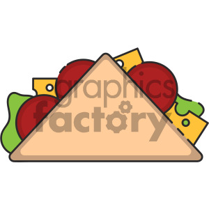 taco vector royalty free icon art clipart. Royalty-free image # 405391