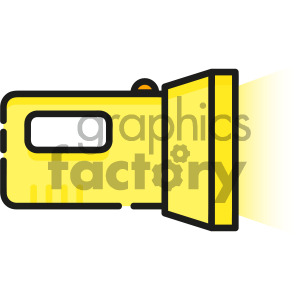 flashlight vector royalty free icon art clipart. Royalty-free image # 405402