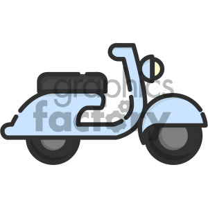 vespa vector royalty free icon art clipart. Royalty-free image # 405420