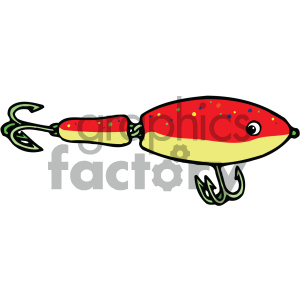 fishing lure 001 vector image clipart. Commercial use image # 405435