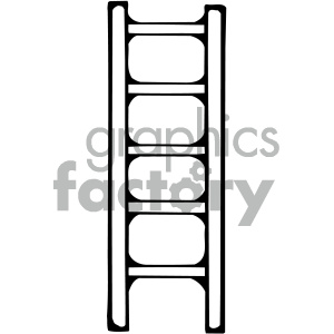 black white ladder image clipart. Commercial use image # 405442