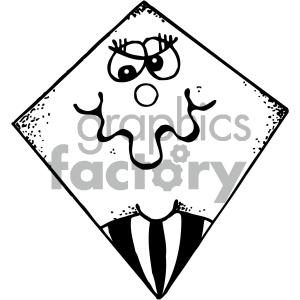 kites 001 black white clipart. Commercial use image # 405453