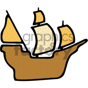 pirate ship vector art clipart. Commercial use image # 405456