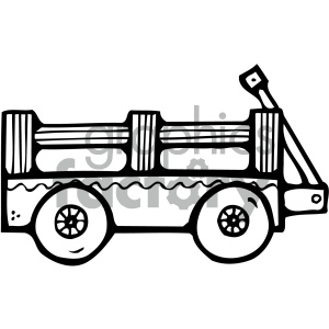 black and white wagon art