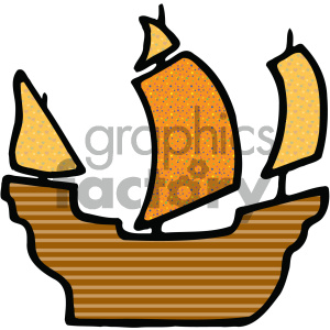 pirate ship 002 c clipart. Commercial use image # 405464
