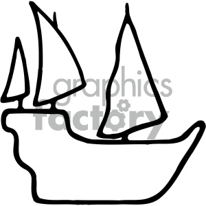 ship silhouette clipart. Commercial use image # 405472