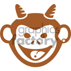 vector monkey face icon clipart. Commercial use image # 405499