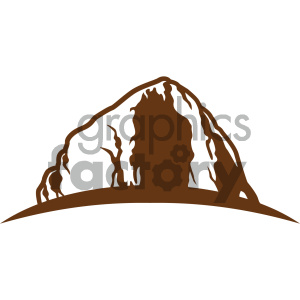 mountain vector icon clipart. Royalty-free image # 405501