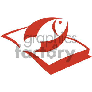 fishing book vector icon clipart. Commercial use image # 405514