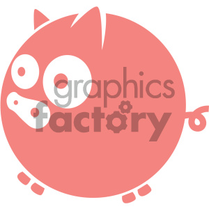vector cartoon piggy bank icon clipart. Commercial use image # 405544