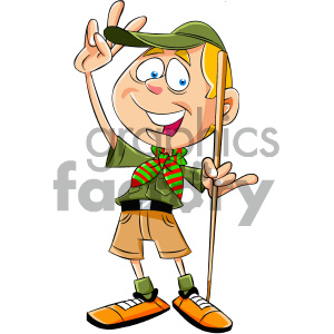 cartoon boy scout character clipart. Commercial use image # 405581