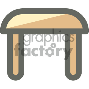 small table furniture icon clipart. Royalty-free image # 405660
