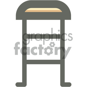 bar stool furniture icon