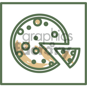 pizza food vector flat icon design clipart. Commercial use image # 405730