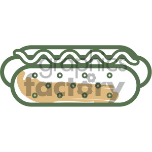 hotdog food vector flat icon design clipart. Royalty-free image # 405735