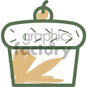 cupcake food vector flat icon design clipart. Royalty-free image # 405738