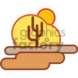 desert cactus nature icon clipart. Commercial use icon # 405746