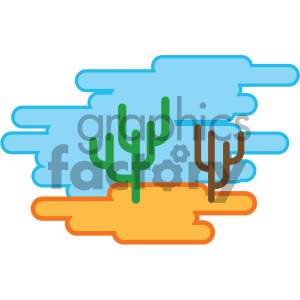 desert nature icon clipart. Commercial use image # 405766
