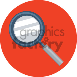 magnifying glass circle background vector flat icon clipart. Commercial use icon # 405781