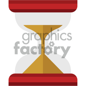 hourglass vector flat icon clipart. Royalty-free icon # 405783