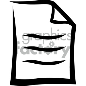 document vector flat icon clipart. Commercial use image # 405853