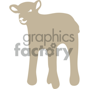 lamb vector icon art clipart. Royalty-free image # 405901
