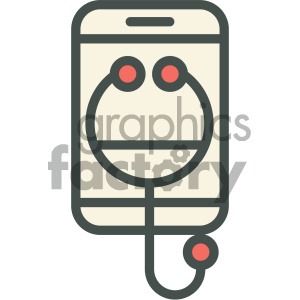 smart device medical vector icon clipart. Royalty-free image # 405974