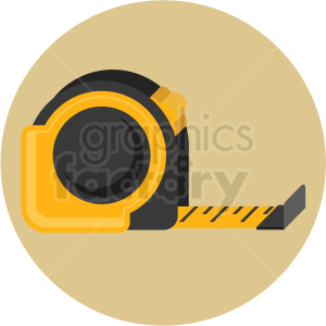 tape measure icon with tan circle background clipart. Royalty-free image # 406027